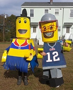 Lego Tom Brady and Patriots Cheerleader Homemade Costumes