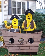 Homemade LEGO costume - Homemade Lego Pirate Ship and Pirate Costumes