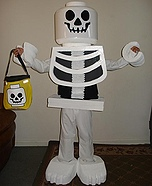 Homemade LEGO costume - Homemade Lego Skeleton Costume