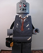 Homemade Lego Zombie Costume