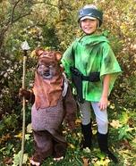 Leia and Ewok Homemade Costume