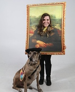 Leonardo Dog Vinci and The Mona Lisa Homemade Costume