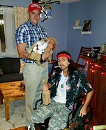 Lieutenant Dan and Forest Gump Homemade Costume