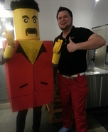 Life-sized Lego Man Homemade Costume