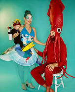 Life Aquatic Family Homemade Costume