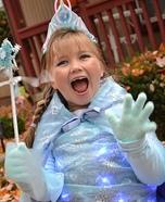 Light up Elsa Homemade Costume