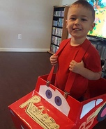 Lightening McQueen Homemade Costume