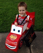 Creative DIY Lightning McQueen Costume
