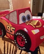 Lightning McQueen Homemade Costume