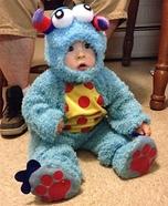 Lil Blue Monster Homemade Costume