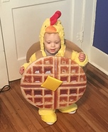 Lil Chicken and Waffles Homemade Costume