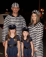 Lil Cops and Jailbirds Homemade Costume