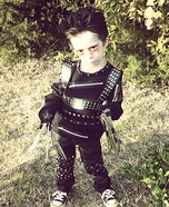Lil Edward Scissorhands Homemade Costume