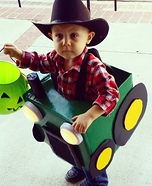 Lil' Farmer and his Tractor Homemade Costume