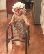 Lil Granny Paisley Homemade Costume