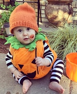 Lil Great Pumpkin Homemade Costume