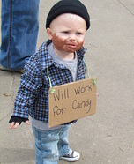 Lil' Hobo Baby Homemade Costume