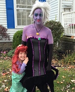 Lil Mermaid and Ursula Homemade Costume