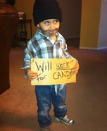 Panhandler Halloween Costume for Boys