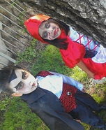Lil Scary Riding Hood and Count Dracula Costumes