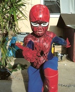 Lil Spiderman Homemade Costume