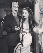 Lily and Herman Munster Homemade Costume