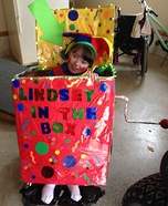 Lindsey in the Box Homemade Costume