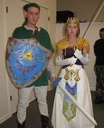 Link and Zelda Homemade Costumes