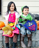 Link and Zelda from Skyward Sword Homemade Costume