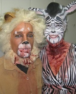 Lion and Zebra Costume