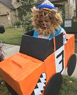 Lion Monster Truck Driver Homemade Costume