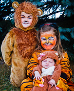 Lion, Tiger & Bear Baby Costumes