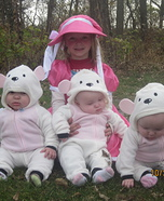 Children's book Halloween costumes - Little Bo Peep and her Little Sheep Costume