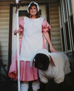 Little Bo Peep and her Sheep Homemade Costume