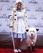 Little Bo Peep and her Sheep Homemade Costume