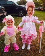 Little Bo Peep found her Sheep Homemade Costume