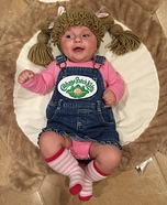 Little Cabbage Patch Doll Homemade Costume