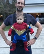 Little Captain Marvel Homemade Costume