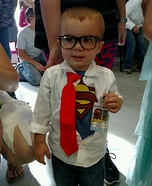 Little Clark Kent Homemade Costume