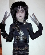 Little Edward Scissorhands Homemade Costume