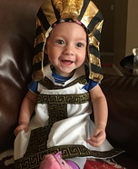 Little Egyptian Baby Homemade Costume
