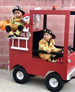 Little Fire Fighters Homemade Costume