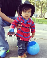 Little Freddy Krueger Homemade Costume