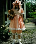 Little Frilly Girl and Teddy Homemade Costume