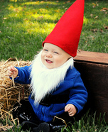 Costume ideas for baby's first Halloween - Little Gnome Costume