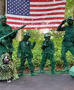 Little Green Army Men Family Homemade Costume
