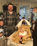 Little House on the Prairie Homemade Costume