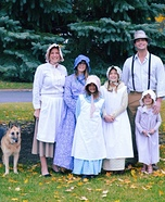 Little House on the Prairie Family Homemade Costume