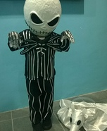Little Jack Skellington and his dog Zero Homemade Costume