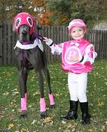 Little Jockey and Race Horse Homemade Costume
